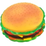 Squeaky Hamburger Dog Pet Toy