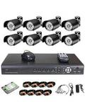 Universal Cctv 8 Camera Security Recording System With Internet And 3g Phone Viewing