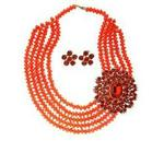 House Of Fabric Jewellery Set -  Red