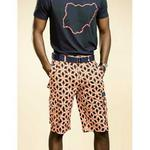 Ankara Cargo Shorts In Orange