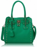 LS+Emerald+Studded+Tote+Bag+With+Padlock