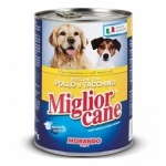 Miglior Cane Professional Chunks Chicken And Turkey Can Food For Dog 405g - 24 Cans