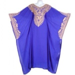 Indian Wear With Full Embroidery Front & Back - Royal Blue